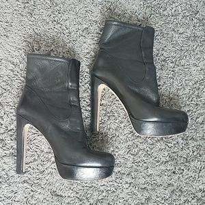 Miu Miu Leather High Heel Boot in 38